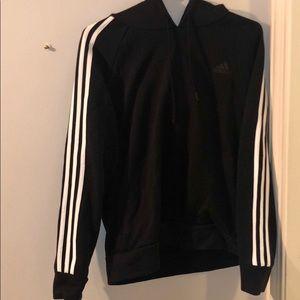 Adidas three stripped black sweatshirt